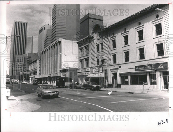 1989 Press Photo California Street - Historic Images