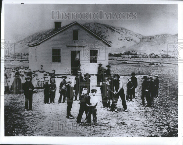 Press Photo Boulder School House Colorado - Historic Images