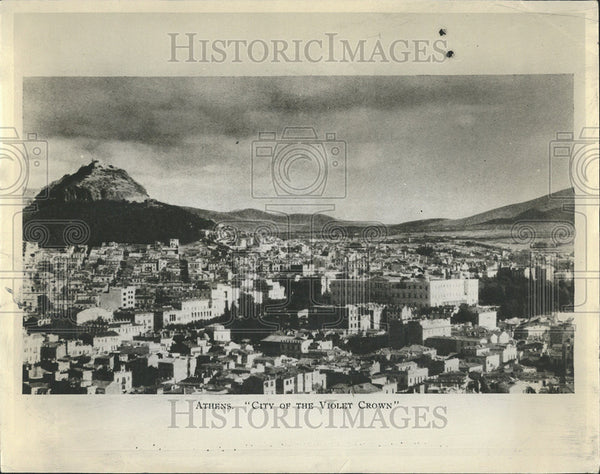 1955 Press Photo Aerial View Of Athens, Greece - Historic Images