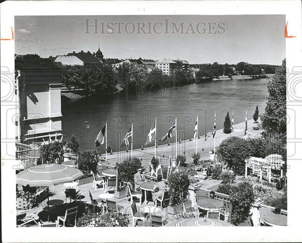 1961 Press Photo View From Balcony At Norr Malarstrand In Stockholm, Sweden - Historic Images