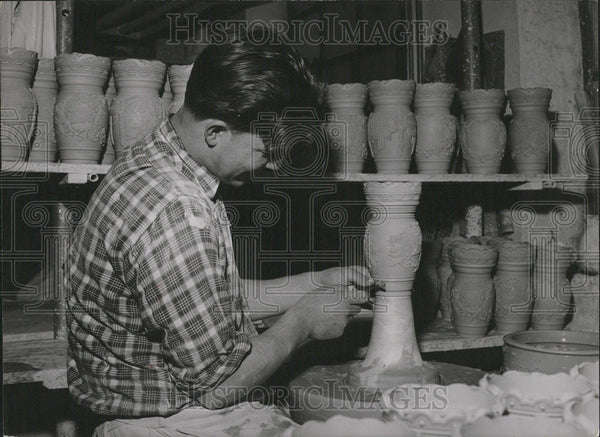 1965 Press Photo Westerwald Ceramics Factory - Historic Images