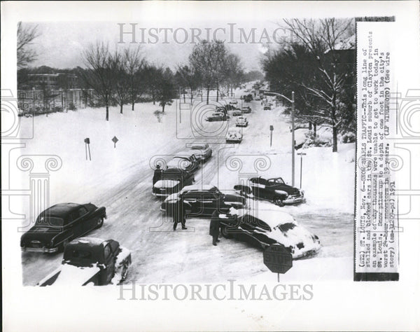 1951 Press Photo St Louis, Missouri Street Scene - Historic Images