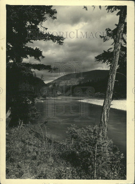 Press Photo View West Whitefish Montana Roosevelt Freeway - Historic Images