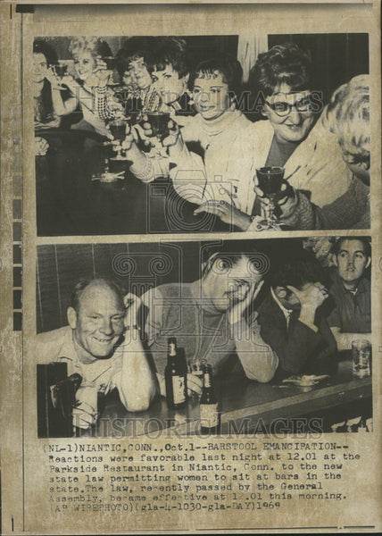1969 Press Photo Parkside Restaurant Niantic City Connecticut - Historic Images