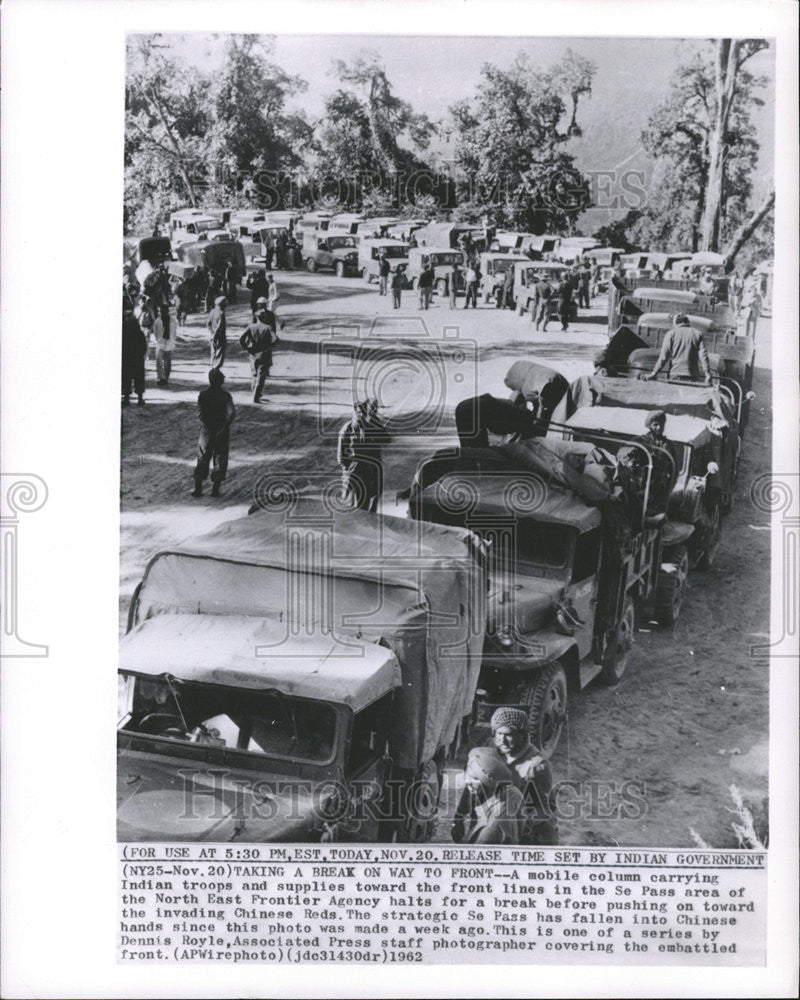 Se Car Agency >> 1962 Press Photo North East Frontier Agency Indian Troop Se Pass Area Mobile