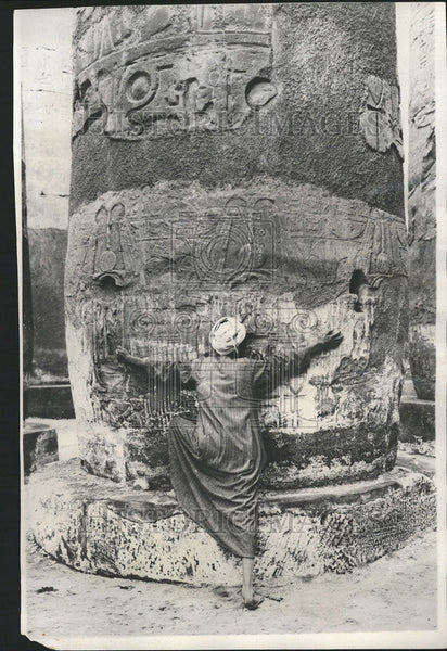1930 Press Photo Egyptian rulers built Colossal Structures mystery Temple Karnak - Historic Images