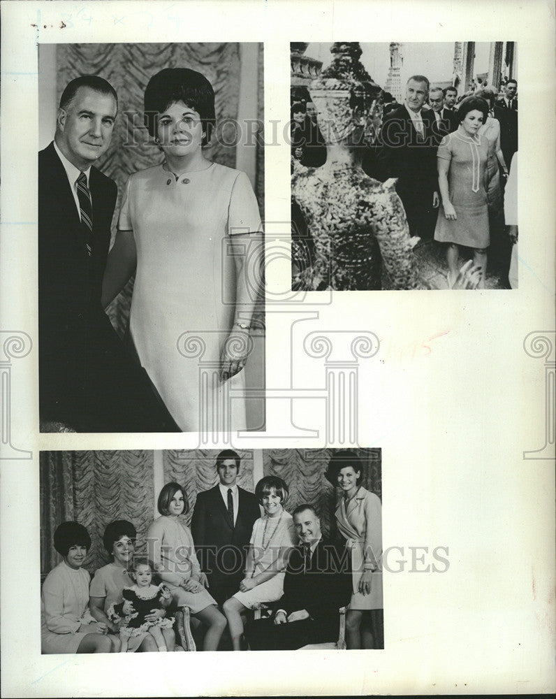 1970 Press Photo Spiro Theodore Agnew Vice President United States Family - Historic Images