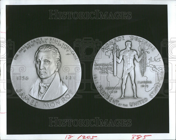1968 Press Photo METALS JAMES MONROE MEDAL ISSUE - Historic Images