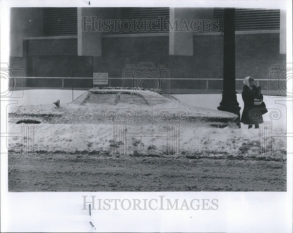 1965 Press Photo Detroit Storms Problem Car Starting - Historic Images