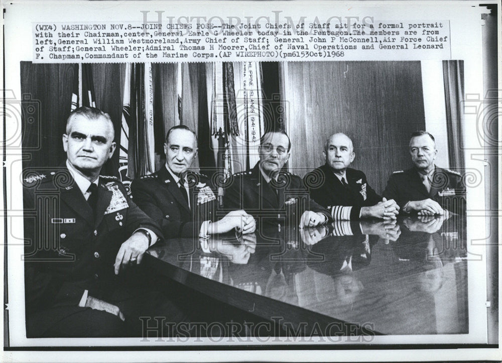 Image result for 1968 joint chiefs of staff