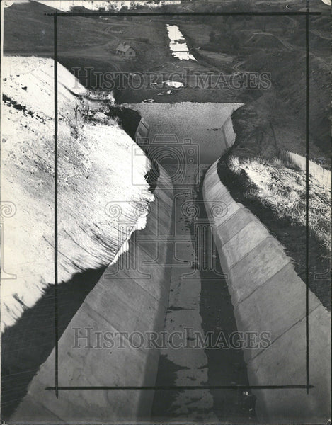 1937 Press Photo Section Spillway Ralston Dam - Historic Images