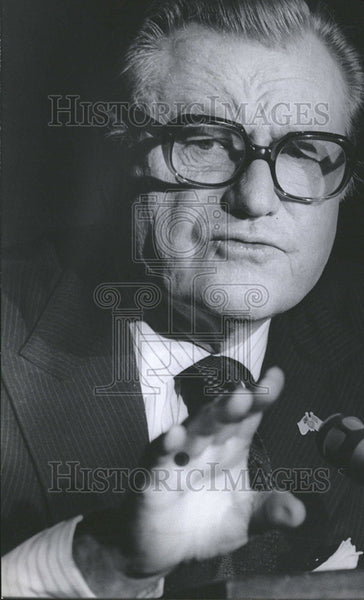 1975 Press Photo United States Vice President Nelson Rockefeller - Historic Images