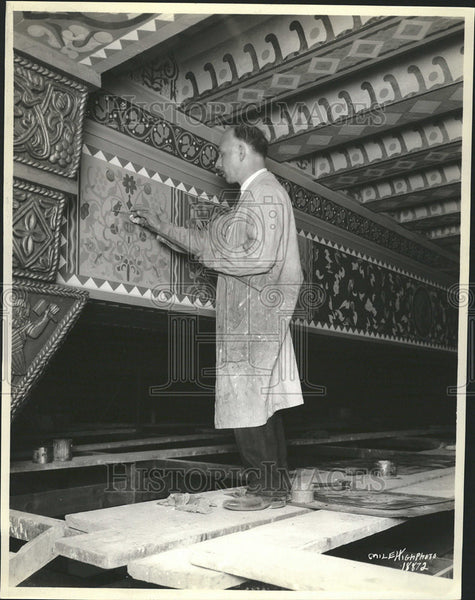 1929 Press Photo Denver National Bank Building Painting - Historic Images