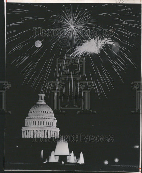 1966 Press Photo The sky above the Capitol in Washington, D.C. - Historic Images