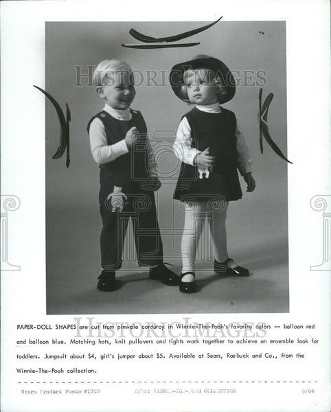 1966 Press Photo Children Modeling Latest Kids Fashions - Historic Images