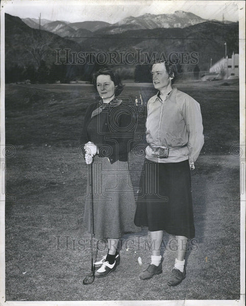 1950 Press Photo Mrs Eugene Colorado springs Broadmoor Course Bedford Mass - Historic Images