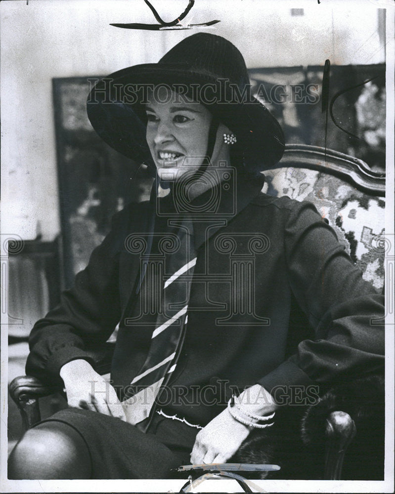 1967 Press Photo Mrs Wyatt Cooper Gloria Vanderbilt Society