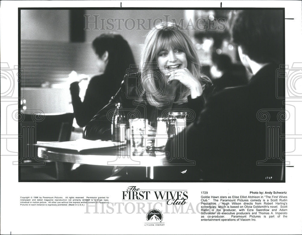 1996 Press Photo First Wives Club Olivia Goldsmith Diane Keaton