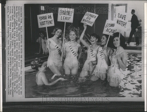 1965 Press Photo International Beauty Pageant Contestants - Historic Images