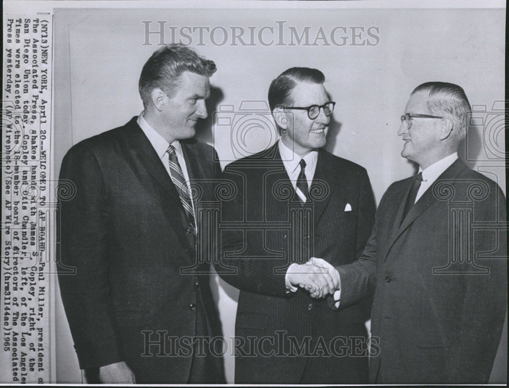 1965 Press Photo The Associate Press President Paul Miller - Historic Images