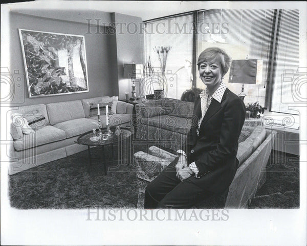 1976 Press Photo Kay Warner Interior Designer Apartment Interior Design - Historic Images