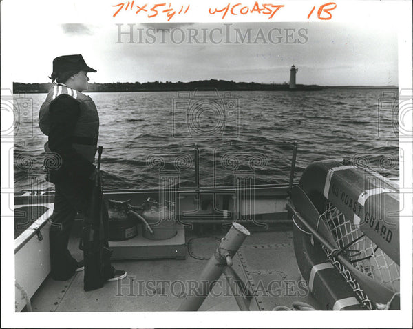 1979 Press Photo United States Women Coast Guard Soldier - Historic Images