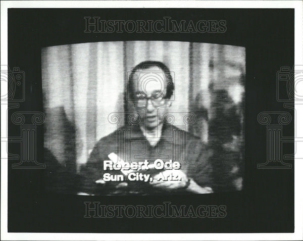 1980 Press Photo Hostage Robert Ode Suncity Arizona Batten Photographer - Historic Images