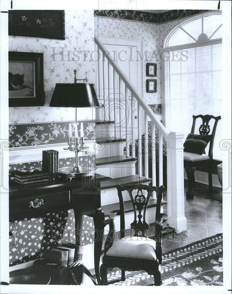 1993 Press Photo Home Interior Decorating Stairway - Historic Images