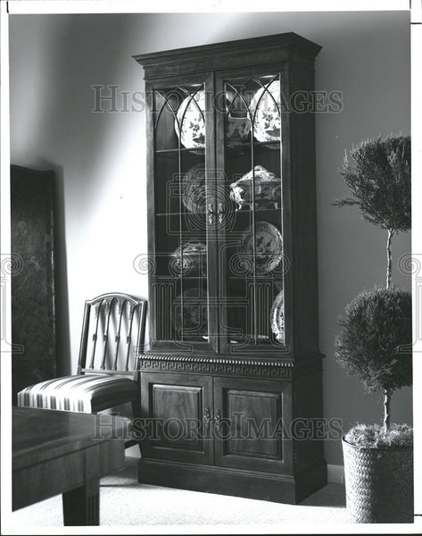1992 Press Photo Home Interior Decorating Furniture Chest Cabinet - Historic Images
