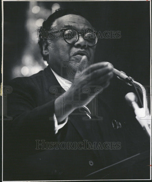 1977 Press Photo Wiliam T Coleman, former transportation secretary - Historic Images