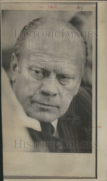 1974 Press Photo Gerald Ford President United States Spiro Agnew Richard Nixon - Historic Images