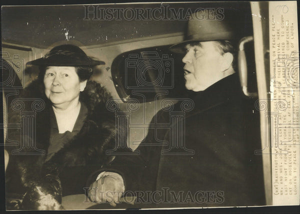 1939 Press Photo Labor Leaders Mr And Mrs John Lewis - Historic Images
