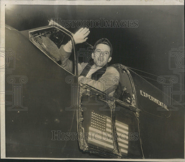 1951 Press Photo Charles F. Blair, Jr., United States Air Force, Navy & Pilot - Historic Images