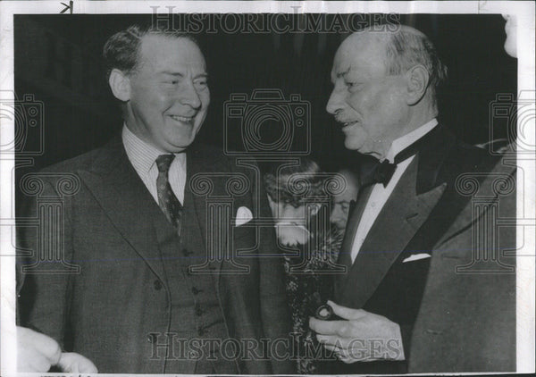 1956 Press Photo  Hugh Gaitskell British Labor Leader President Attlee Party - Historic Images