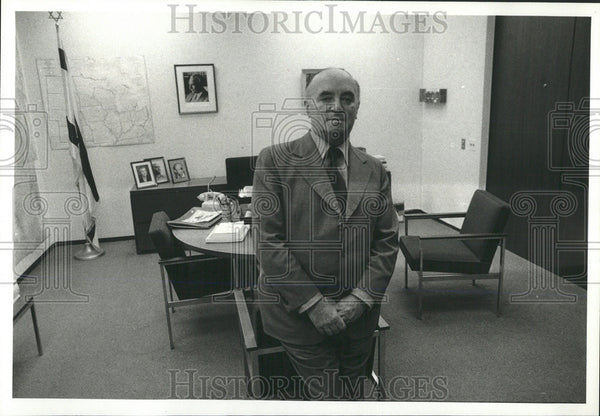 1977 Press Photo Ehud Avriel, Council General Of Israel To Chicago & The Midwest - Historic Images