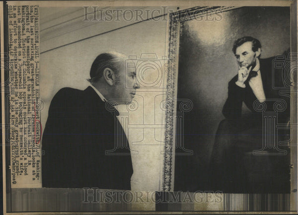 Press Photo Robert Beck Washington Last Great Grand child Abraham Lincoln Court - Historic Images
