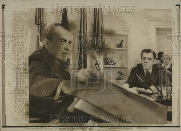 1970 Press Photo President Nixon Director Farm Bill White House Agriculture - Historic Images