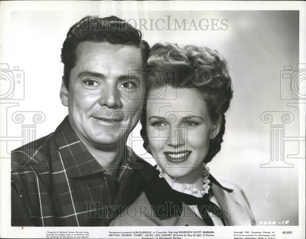 None Press Photo Russell Hayden & Barbara Britton - Historic Images