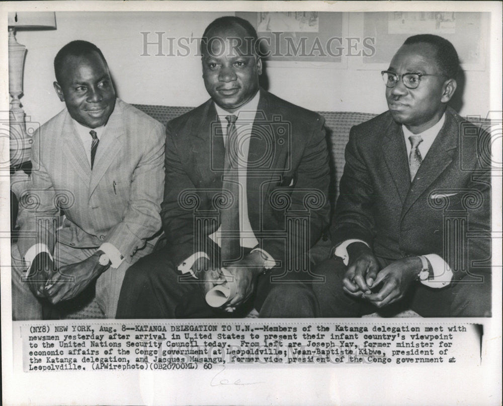 1960 Press Photo Katanga United States Country United Nations Security Council - Historic Images