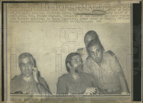 1975 Press Photo Portugal Top Army Commander Net Tancos North Lisbon Tuesday - Historic Images