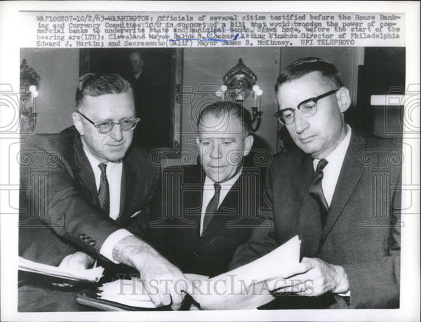 1963 Press Photo Washington Currency Committee Cleveland Ralph Locher - Historic Images