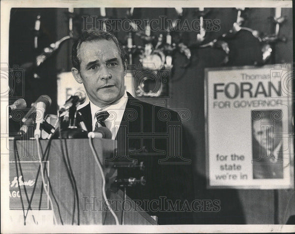 1989 Press Photo THOMAS A. FORAN FORMER UNITED STATES ATTORNEY NORTHERN DISTRICT - Historic Images