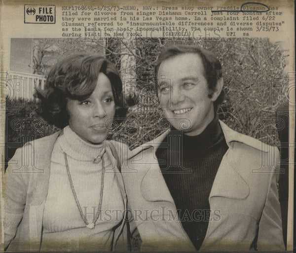 Outlet New Jersey >> 1973 Press Photo Freddie Glusman divorce singer Diahann Carroll Las Ve | Historic Images