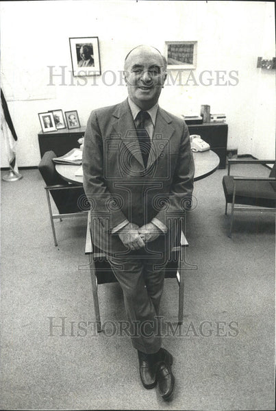 1977 Press Photo Ehud Avriel Council General of Israel Midwest - Historic Images