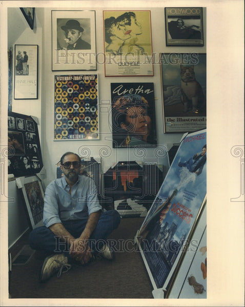 None Press Photo Arthur Bernberg, poster store owner. - Historic Images