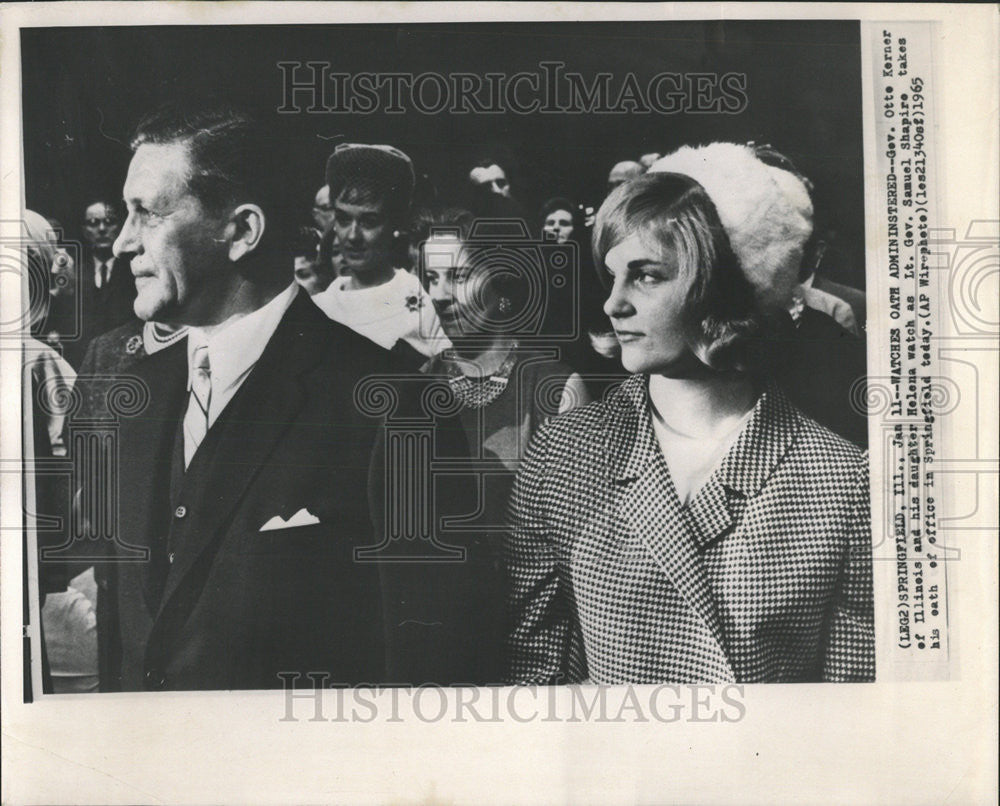 1965 Press Photo Otto Kerner Illinois Governor - Historic Images