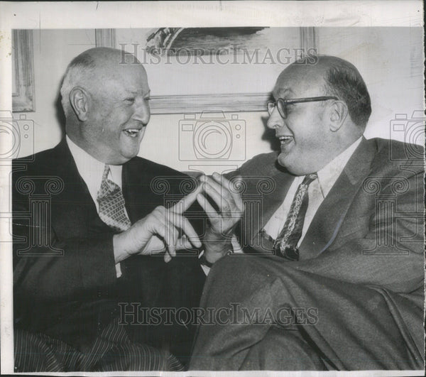 1953 Press Photo James Farley Leonard Hall New York Washington Gridiron Club - Historic Images