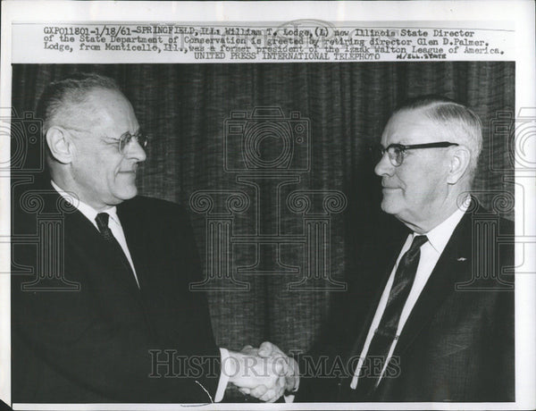 1961 Press Photo William Lodge New Illinois State Director Department Spring - Historic Images