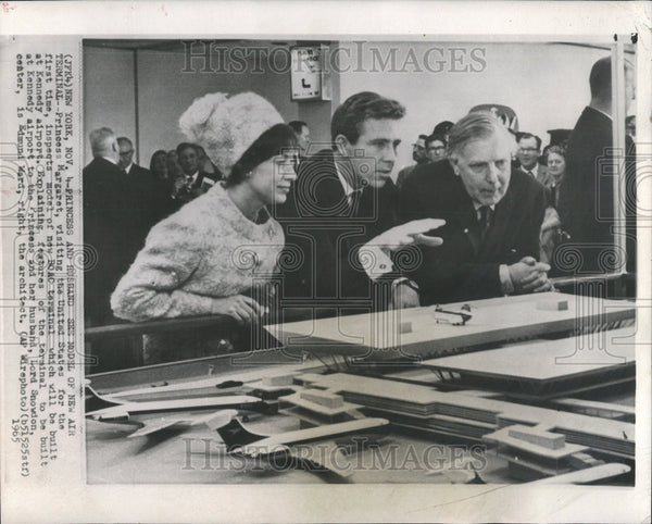 1965 Press Photo Princess Margaret Visiting United States Kennedy Airport - Historic Images