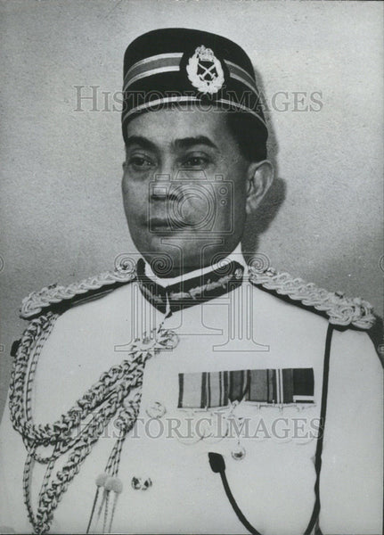 1964 Press Photo Tengku Mohammed Jewa Chief  Malaysia Armed Forces - Historic Images